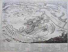 Le siège de PHILIPSBOURG, par Empereur et des Princes de l'Empire, gravure 17 èm