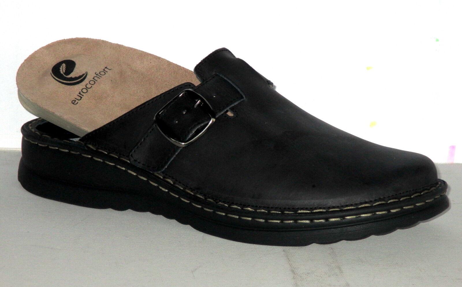 Euroconfort Herren Sabot auch für lose Einlagen geeignet, Leder, Gr.40-45 ++NEU+