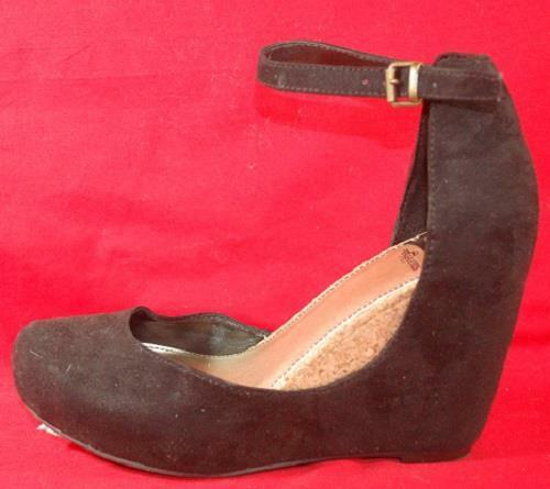 Women's FERGIE DISOBEY Heels Black Velvet Platform Wedge Heels DISOBEY Dress Shoes New 338c58