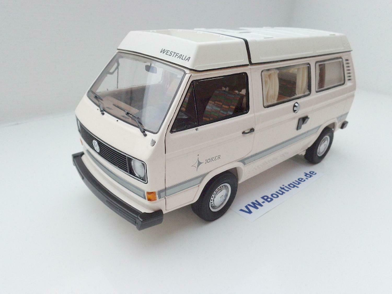 VOLKSWAGEN VW t3 a autobus Camper Westfalia Joker Bianco di Schuco 1 18 450038600