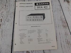SANYO-DCA-411-STEREO-AMPLIFIER-ORIGINAL-SERVICE-MANUAL-w-wiring-diagram