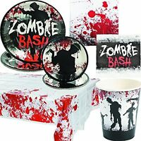 Halloween Party Packs Walking Dead Zombie Bash Themed Dinner Plates Tableware