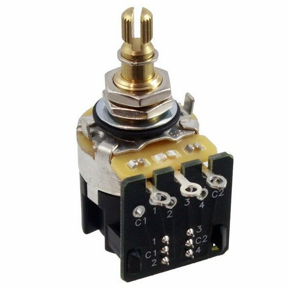 E parts collection on ebay new cts full size 500k audio taper pot w dpdt pushpull switch for sciox Image collections