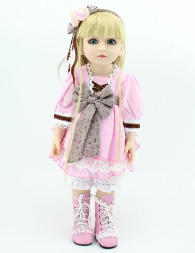 45cm Pink NPK BJD Ball Jointed Doll High Vinyl Girl Toy 18in