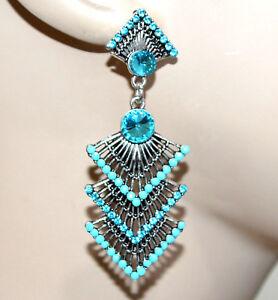 PENDIENTES-mujer-plata-colgantes-diamantes-de-imitacion-azul-brincos-cercei-G7