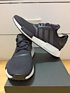 ad8aae41abd Adidas NMD R 1 Core Black White Reflective S80206 Kids Size 3.5-7US ...
