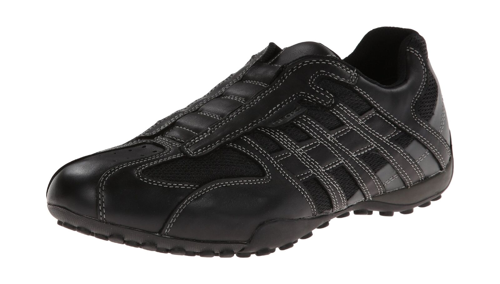 Geox Men Snake Low-Top Sneakers Black (Black Lead) 6.5 UK
