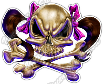 Skull And Sword Vintage Car Bumper Sticker Decal /'/'SIZES/'/'
