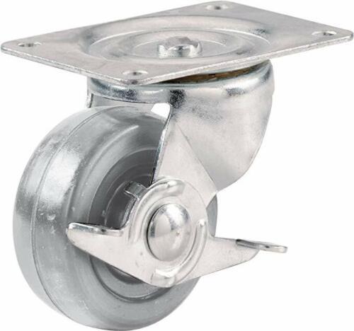 Shepherd Hardware 9274 2-1//2-Inch Hard Rubber Swivel Plate Caste// Side Brake