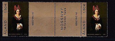 Aland Postfrisch Doppel Stegpaar Minr. 301 Gemälde Von Karl Emanuel Jansson Non-Ironing