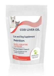 Cod-Liver-for-Pets-Oil-550mg-amp-Vitamin-A-amp-D3-x1000-Capsules-Letter-Post-Box-Siz