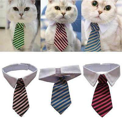 Gentleman Puppy Striped Tie Necktie Collar Clothes for Dog Cat Pet Supplies FREE