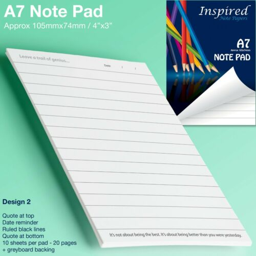 Mini Notepad Notebook A7 Jotter Note Paper Scribble Pad Pocket Size Sketchpad