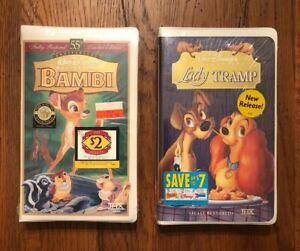 Walt Disney S Bambi Lady And The Tramp Masterpiece Collection Vhs Tape Sealef Ebay