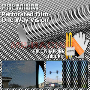 Premium Black Perforated One Way Vision Print Media Vinyl