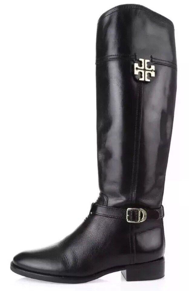 Tory Black Burch Eloise Leather Riding Boots Black Tory Women Sz 6M 1016 edca5e