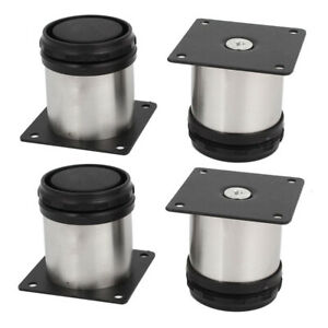 4X-50mm-Adjustable-Stainless-Steel-Furniture-Sofa-Bed-Leg-Cabinet-Feet-Protector
