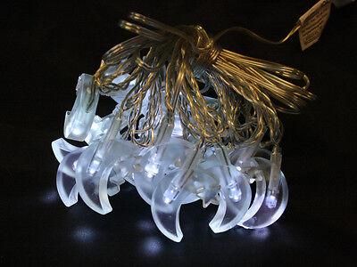 weiss Wanshop Ramadan Dekoration Mondstern Lichterkette Dekoration f/ür Innen und Au/ßen Deko wie Weihnachten LED Lichterkette batteriebetrieben