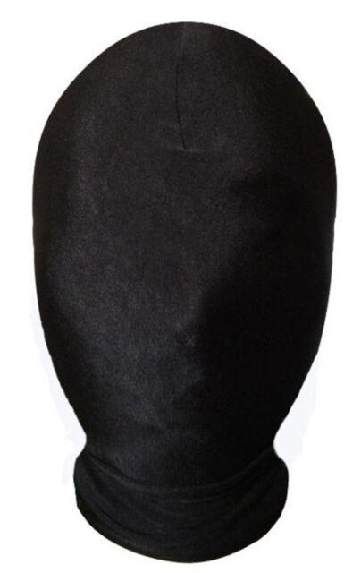 Lycra Spandex zentai costume black all Mask/Hood size S-XXL