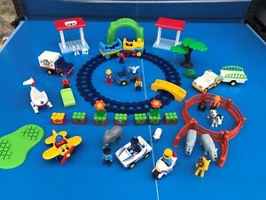Playmobil-123-Enorme-lot-TBE-KG-Ferme-zoo-Vehicules-Animaux-Figurines-Train-N-1