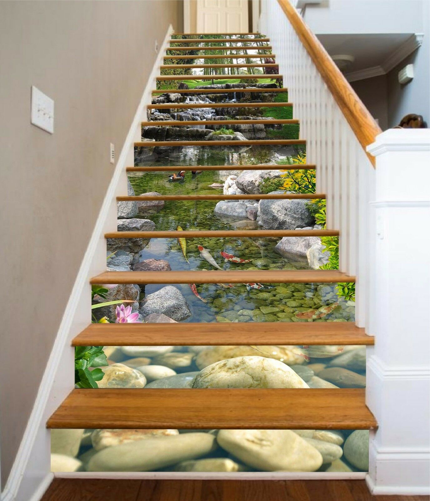 3D Stone River 659 Stair Risers Decoration Photo Mural Vinyl Decal Wallpaper UK