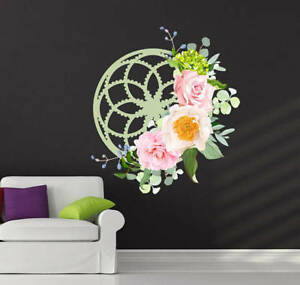Image Is Loading Mandala Sticker Flower Decal Wall Mural
