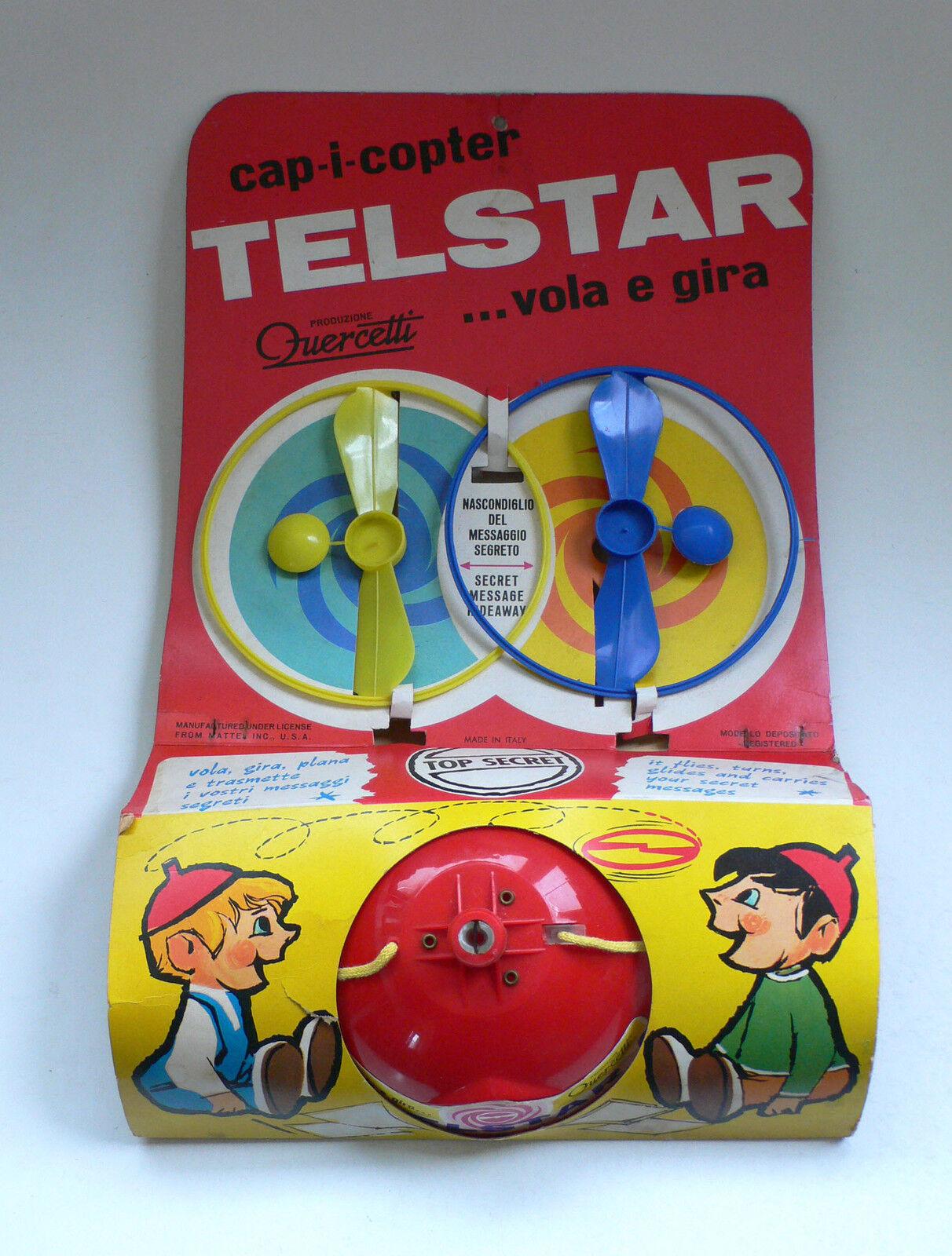 Vintage Telstar CAP-I-COPTER Beany & Cecil Copter Message Hat MOC 1960's
