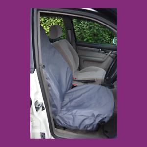 Front Single Car Van Grey Waterproof LARGE Universal Airbag Seat Covers