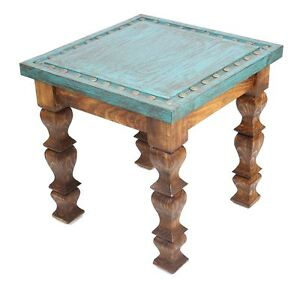 Image Is Loading Silver Trails Western End Table 22x22x22 Silver Conchos