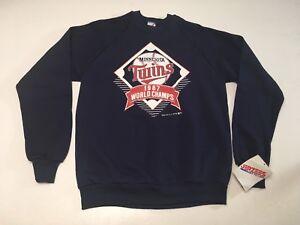 buy popular 73021 6fc77 Details about VTG Deadstock 1991 Minnesota Twins World Series Pullover  Crewneck Sweatshirt L