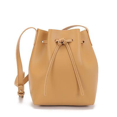 NEW Leather bucket bag in tan Women's by Palooza Inc.