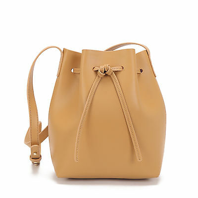 NEW Leather bucket bag in tan Women's by Palooza Inc.