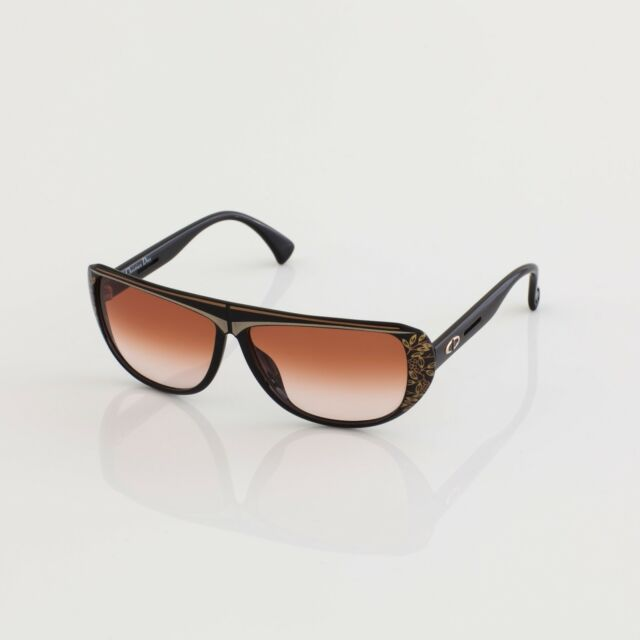 65916a8143ac9 New Vintage Christian Dior Sunglasses 2421 C. 94 Black   Gold 60mm NOS  Germany