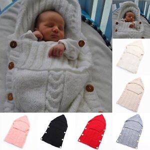 8b3ef45c9 Newborn Baby Infant Knit Crochet Swaddle Wrap Swaddling Blanket ...