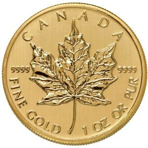 1-oz-Canadian-Gold-Maple-Leaf-Coin-9999-Pure-Varied-Year-Condition