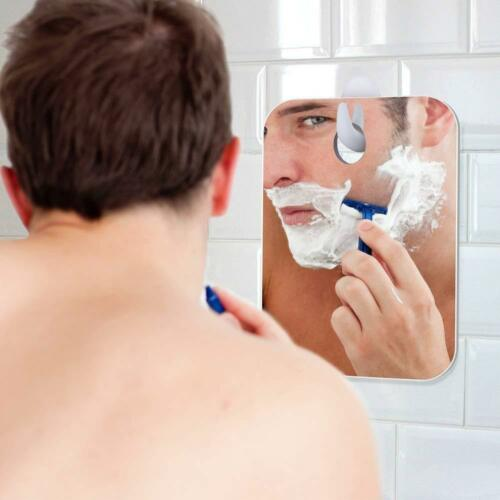 Fogless Shower Mirror Bathroom Travel Make Up Shaving Mirror With Adhesive Hook