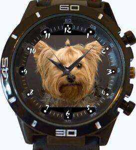 Yorkshire-Terrier-NEUF-GT-Serie-Sport-Unisexe-cadeau-montre-bracelet