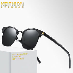 18a5f05566 Image is loading KEITHION-New-Polarized-Vintage-Retro-Sunglasses-Men-Women-