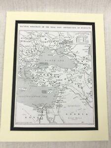 1915-WW1-Originale-Stampa-Naturale-Risorse-Di-Militare-Importance-Il-Balcani-Map