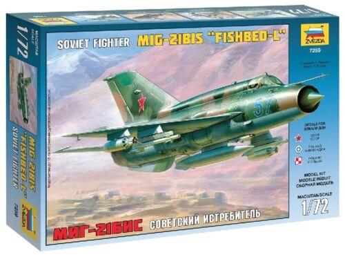 Mig-21 Bis Fishbed-L Kit ZVEZDA 1:72 ZS7259