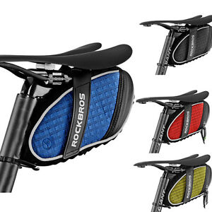 Image Is Loading Rockbros Bicycle Rainproof Saddle Bag Reflective Rear Seatpost