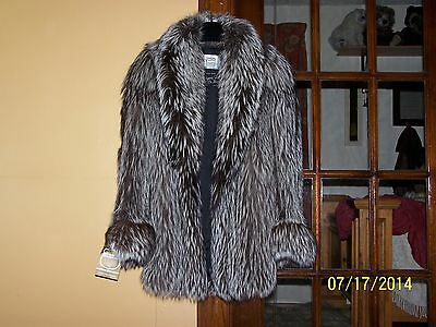 SAGA SILVER FOX FUR Coat Size M 3/4 style, the Complete Ultimate in LUXURY!