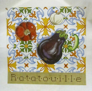 Handpainted-Needlepoint-Canvas-Kathryn-Molineux-Eggplant-Ratatouille-M-109-13ct