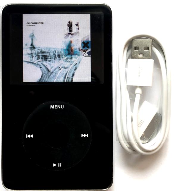 Apple iPod Video Classic 5.5 Enhanced 5th 30GB Black - New Battery + Wolfson DAC