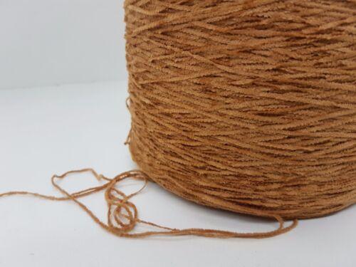 Chenille baumwol braun 650gr cf74 Wolle NaturGarn Stricken Weben /& Handstricken