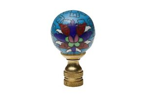 Beautiful-Vintage-Style-Cloisonne-Blue-Ball-Finial-2-034
