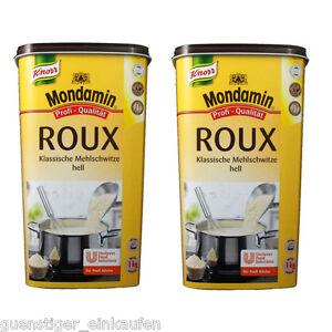 ( 13,91€/ Kg) 2x 1kg Mondamin Roux Clair Gastro Pack Qualité Professionnelle