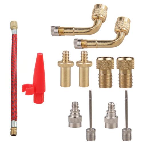 Presta-Ventil //Neu GETODAN 12-teiliges Set Pumpen-Adapter-Set für Fahrradreifen