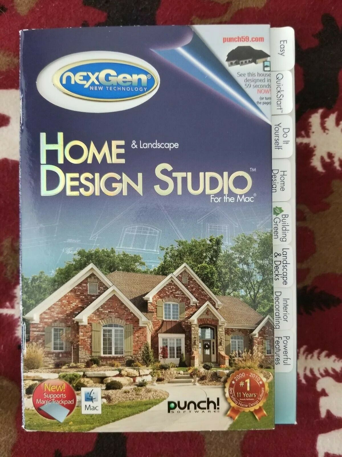 Punch! Home and Landscape Design Studio for the Mac (2010) - Brand new, Sealed. 10