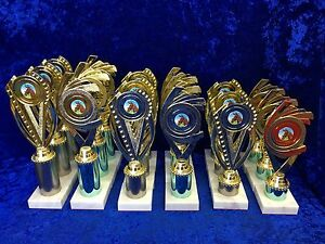 BARGAIN-BOX-Equestrian-Sport-Dancing-Awards-Trophies-Set-of-18-FREE-Engravin